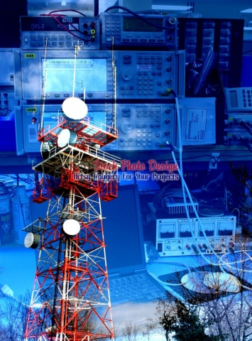 Communication Equipments Photo-Montage - Great Artsy RF Images for all your website creations and projects