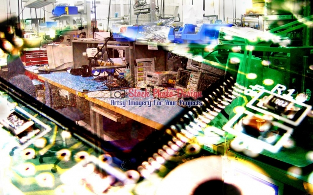 Electronic-Industry-Photo-Montage Artsy RF Picture