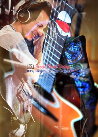 Guitar Player Photo-Montage - Great Artsy RF Images for all your website creations and projects