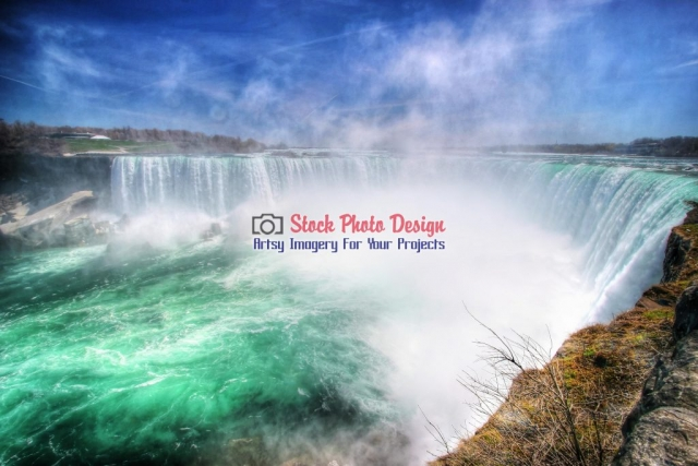 Magnificient Niagara Falls - Great Artsy RF Images for all your website creations and projects