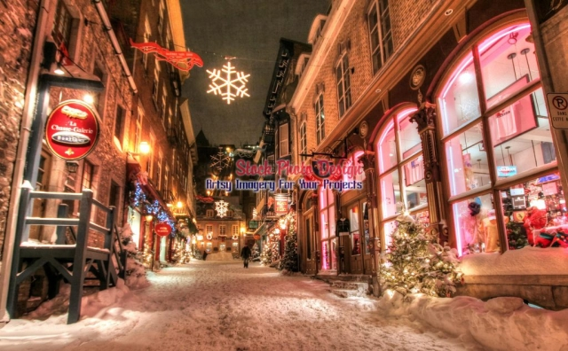 Old-Quebec-City-District-Alley Artsy RF Picture