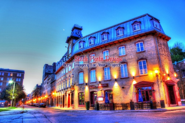 Old-Quebec-City-District-Restaurant Artsy RF Picture