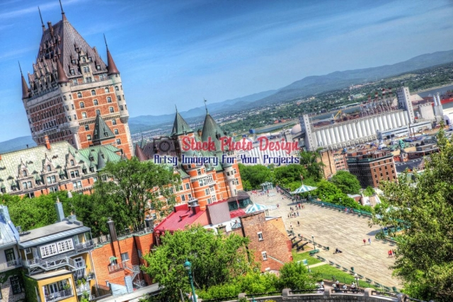 Quebec-City-Frontenac-Castle Artsy RF Picture