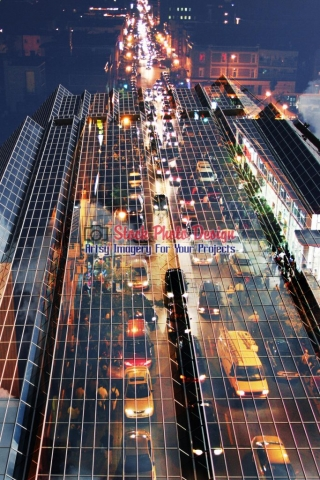 Urban Traffic Concept Photo-Montage - Great Artsy RF Images for all your website creations and projects