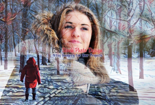 Winter Woman Photo-Montage - Great Artsy RF Images for all your website creations and projects