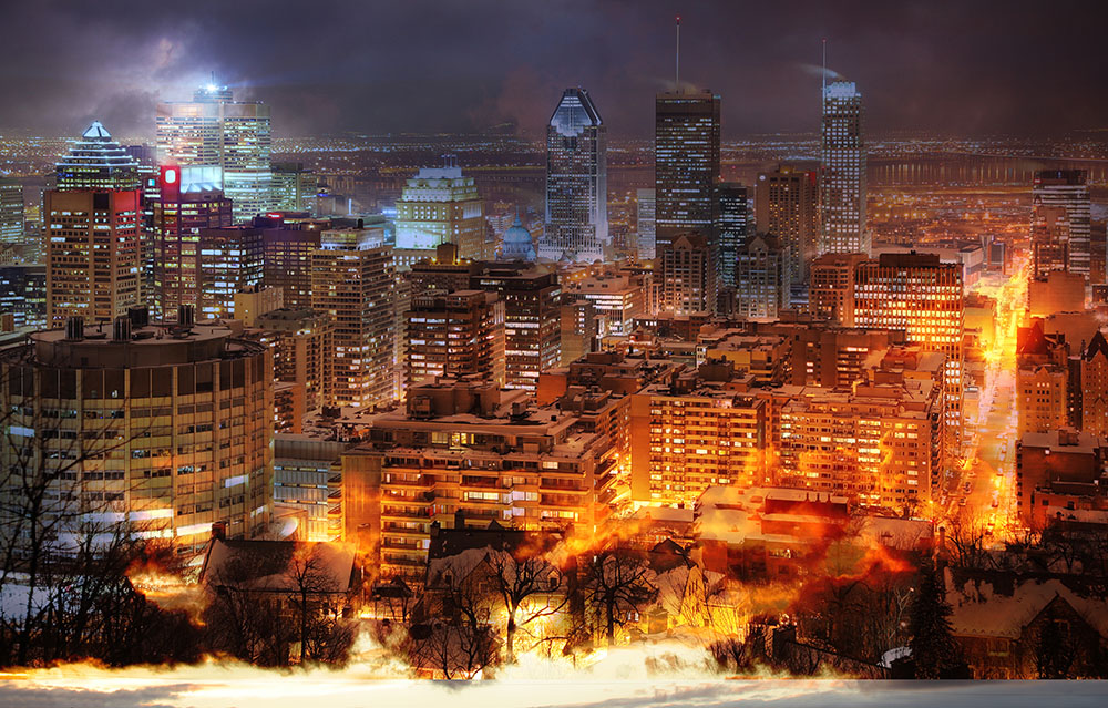 Montreal City Photo Montage Stock Image