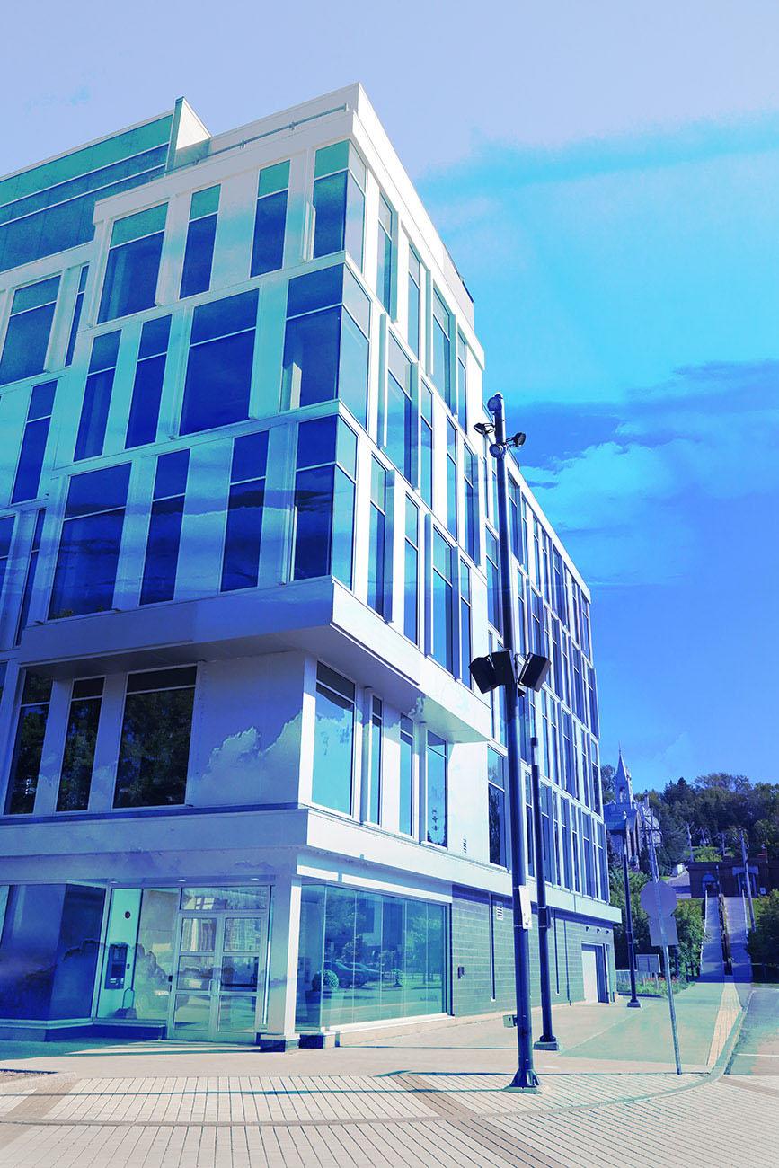 Street Corner Office Building Stock Image