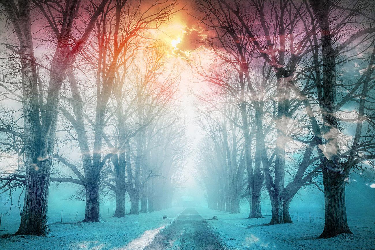 Wintery Road Stock Image