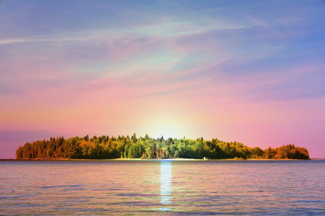 Peaceful Remote Island Stock Image