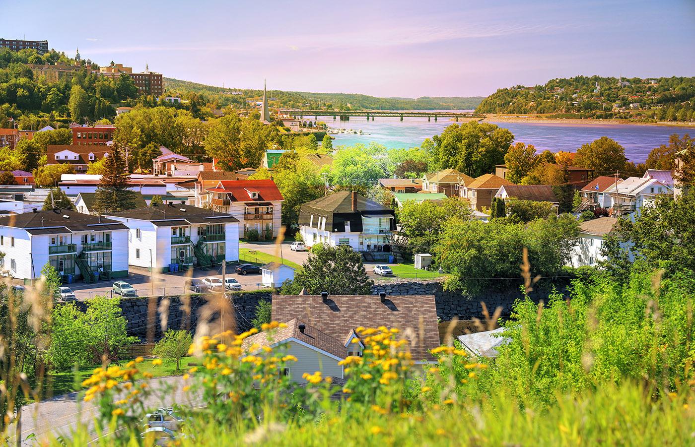 Saguenay City Neighborhood Stock Image