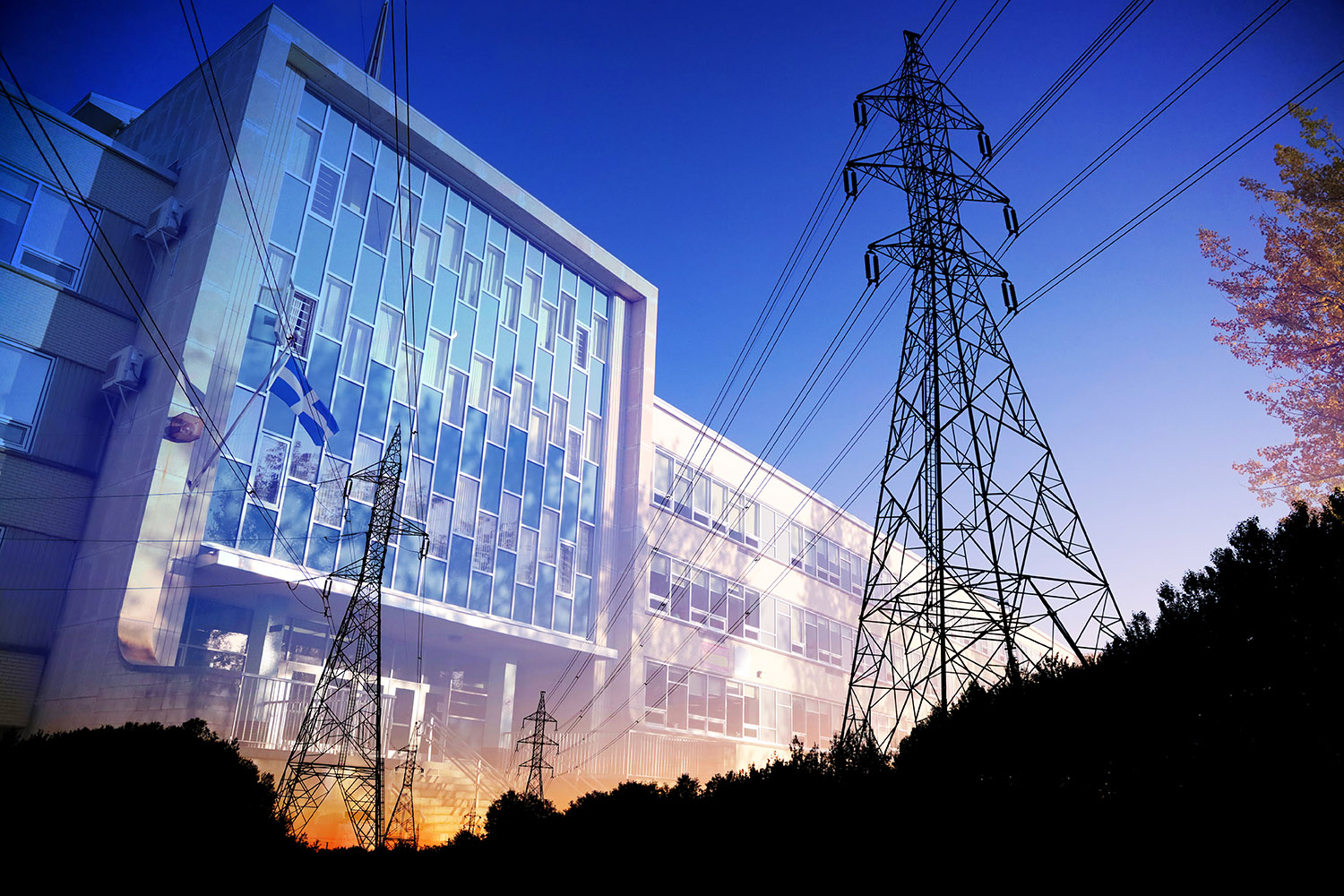 Commercial and Public Building Energy Efficiency Stock Image