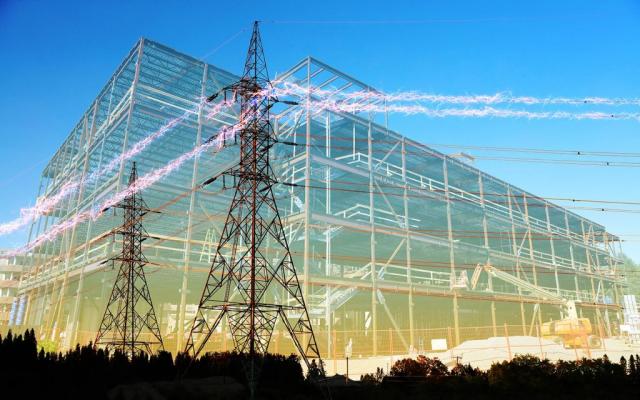 Large Construction Industry Electrification Stock Image