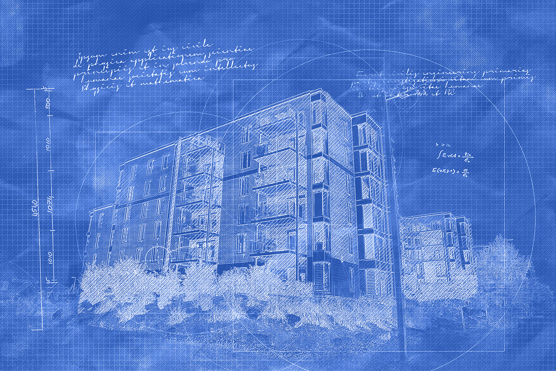 Condominium Building Construction Blueprint Design