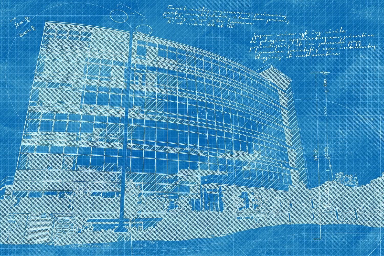 Headquarters Building Construction Blueprint Design