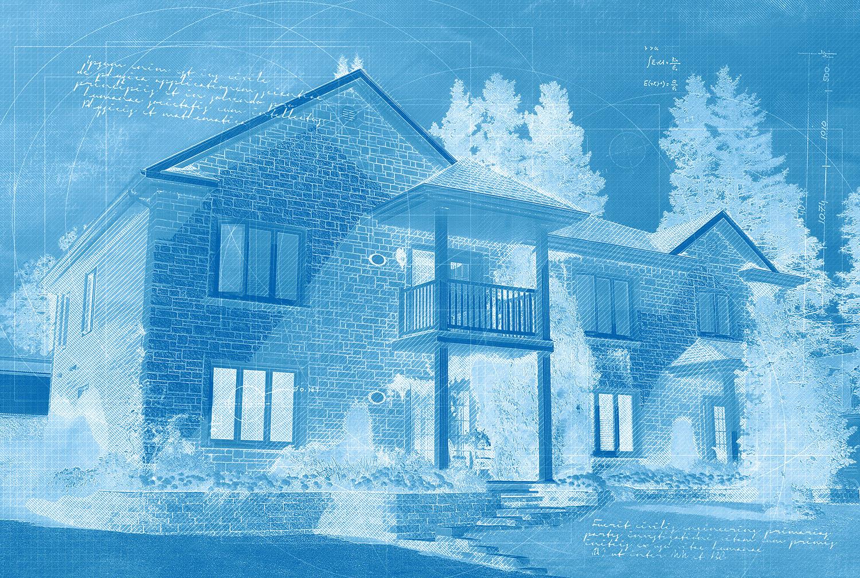 Large House Construction Blueprint Design